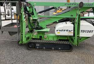USED 2011 NIFTYLIFT TD120T TRACK MOUNTED BOOM LIFT. TRACK ACCESS PLATFORM