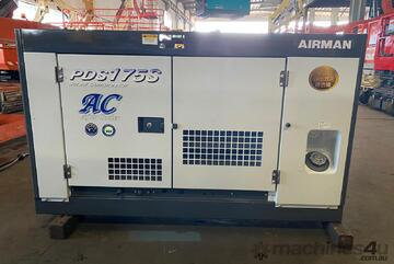 175 CFM AIRMAN SILENCED YAMNAR POWERED DIESEL COMPRESSOR  , AFTERCOOLED MODEL VERY GOOD CONDITION