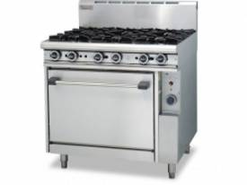 Trueheat R90-6 Gas Heated Range With 6 Open Burner - picture0' - Click to enlarge