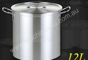 12L COMMERCIAL STAINLESS STEEL STOCK POT