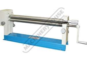 SRG-24H Manual Sheet Metal Curving Rolls-Bench Mount 610 x 1mm Mild Steel Capacity Includes Wiring G