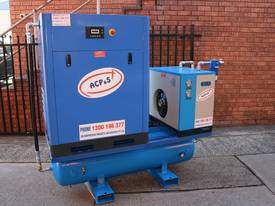 15hp 11kW Rotary Screw Air Compressor Package with Tank, Dryer & Oil Removal Filters - picture0' - Click to enlarge