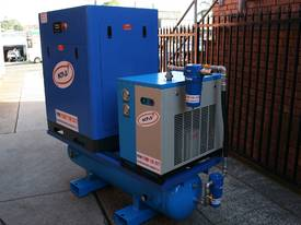 15hp 11kW Rotary Screw Air Compressor Package with Tank, Dryer & Oil Removal Filters - picture9' - Click to enlarge