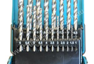 19 Pc Drill Bit Set HSS M2 Metric