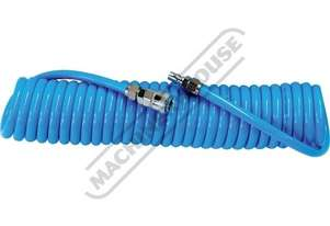 RCH-13 Recoil PU Air Hose 7.5 Metre x Ø8mm ID Hose Ø12.7mm OD Hose