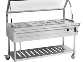 F.E.D. BST4H Heated Four Pan Food Service Cart - picture1' - Click to enlarge