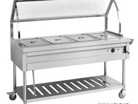 F.E.D. BST4H Heated Four Pan Food Service Cart - picture0' - Click to enlarge