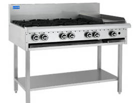 Luus Model BCH-6B3C - 6 Burners 300 BBQ Char and Shelf  - picture0' - Click to enlarge