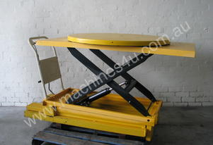 500kg Manual Hydraulic Scissor Lift Turntable - 11