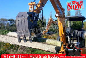 392mm Multi Grab Bucket for 3-4T Excavator ATTGRAB