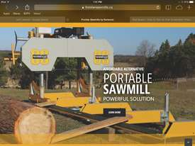 SAWMILL Norwood frontier Sawmill  OS27 13HP Portable Band saw  Mill Sawmill Australian design  - picture0' - Click to enlarge