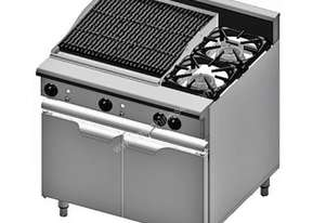 COMBI 2 BURNER AND CHAR GRILL(LPG)