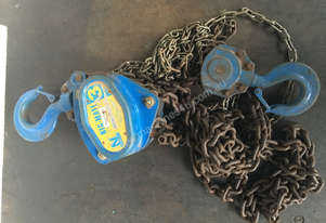 Chain Hoist 3 ton x 6 meter drop lifting Block and Tackle Nobles 3000 kgs