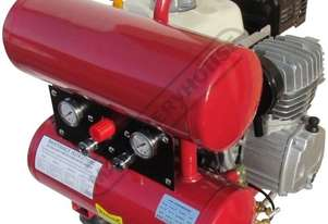 AFP9T Petrol  Powered Air Compressor 16 Litre  Air Receiver / 6.5hp 9.2cfm Piston Displacement