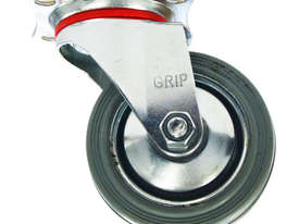 43052 - GREY STEEL CORE CASTOR(SWIVEL) - picture0' - Click to enlarge
