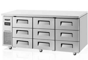 Skipio SUR18-3D-9 Under Counter Refrigerator Nine Drawers