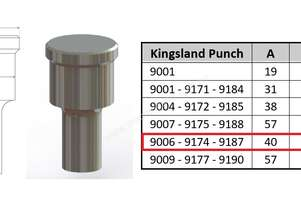 9187 Elongated Punch for Kingsland Iron Worker