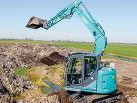 kobelco 8 Tonne Excavator with Buckets for HIRE - picture0' - Click to enlarge