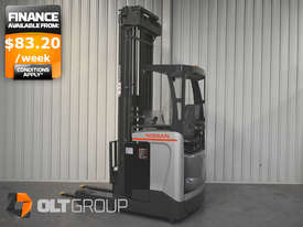 7.95m Ride Reach Truck Nissan UMS 2 Tonne Electric Warehouse Forklift Sydney High Lilft - picture0' - Click to enlarge