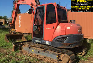 Kubota KX080-3 Excavator, 360 degree tilt hitch. EMUS MS472