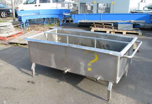 3 Section Stainless Steel Dip Dipping Tank - Approx. 950L
