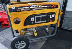 6.5kva generator with a 15hp petrol engine in a roll frame with wheels