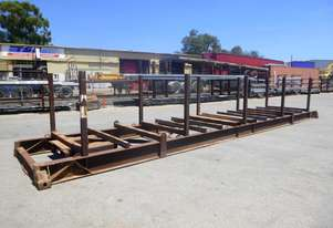 40ft Trailer Mounted Pipe Bolster Stand with Twist Lock Pockets