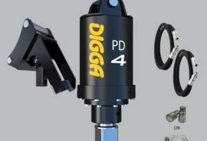Digga PD4-5 auger drive With  Hoses, Couplers and Cradle Hitch