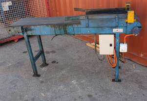Motorised Rubber Belt Conveyor drum motor 1950 x 400mm EXTENSION LEGS 940 high