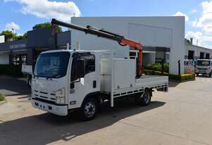 2013 ISUZU NPR 400 - Truck Mounted Crane - Tray Top Drop Sides