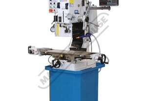 HM-48 Mill Drill - Geared & Tilting Head with Digital Readout System Table Travel: (X) - 540mm (Y) -