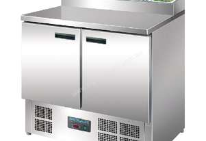 Polar 2 Door Salad & Pizza Prep Counter Stainless Steel