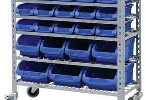 SR-22 Mobile Storage Bin Rack 22 Bins 880 x 410 x 950mm