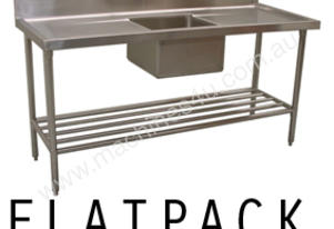 Alphaline XS1-70180C Stainless Steel Sink Bench 1800 x 700 Centre Bowl