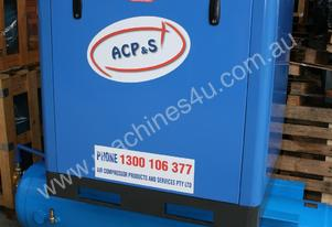 15hp 11kW Tank Mounted Rotary Screw Air Compressor