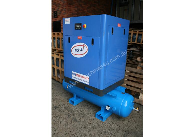 German Rotary Screw  - 15hp / 11kW Rotary Screw Air Compressor with 450 Litre Air Receiver Tank