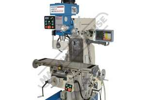 HM-54GV Industrial Turret Milling Machine Inverter Variable Speed, Geared Head - Horizontal & Vertic