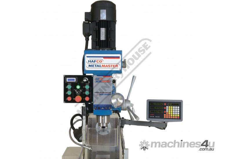 HM-54GV Turret Milling Machine Inverter Variable Speed & Geared Head - Horizontal & Vertical (X) 600