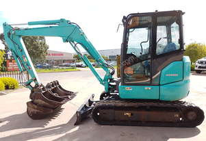 USED 2015 KOBELCO SK55SRX-6 EXCAVATOR WITH A/C CAB