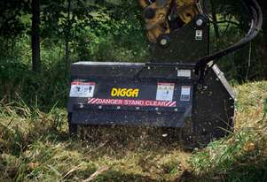DIGGA FLAIL MULCHER MOWER 3-6T EXCAVATORS Hyd Mulcher Attachments