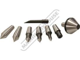 C0635 3MT Live Centre Set - Interchangeable Centring Tips  Taiwanese Precision Quality - picture3' - Click to enlarge