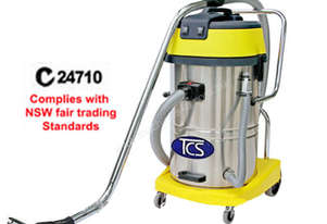 TCS Commercial 60L Wet & Dry Vacuum Cleaner 2 x 1000W Ametek Motors SC-602J-N