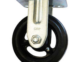 42081 - RUBBER MOULDED IRON WHEEL CASTOR(FIXED) - picture0' - Click to enlarge