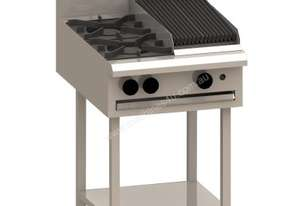Luus BCH-2B3C 600mm Cooktop with 2 Burners, 300mm Chargrill & Shelf Essentials Series