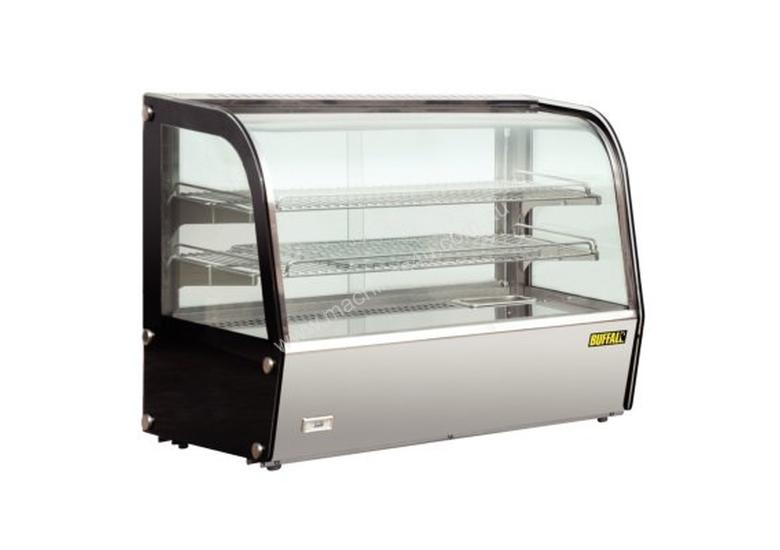 Apuro Heated Countertop Curved Glass Display Cabinet - 120Ltr