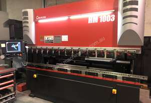 Amada HM1003 Press Brake - Offers performance and reliability with offline programming capability.