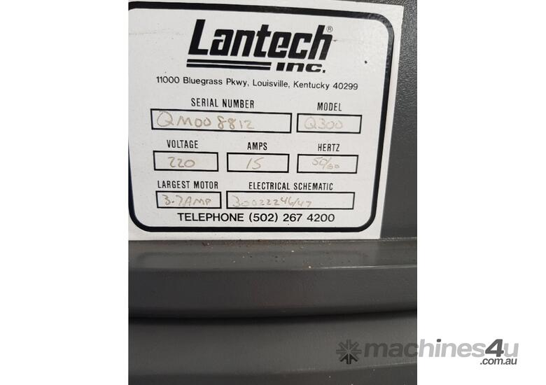 LANTECH PALLET STRETCH WRAPPING MACHINE Q300 Late Model, Made in USA, Auto, Heavy Duty - SAVE $14k +