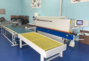 Edgebanders NikMann KZM-v62 with corner rounder + pre milling + return conveyor