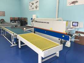 Edgebanders with corner rounder + pre milling + return conveyor - picture0' - Click to enlarge