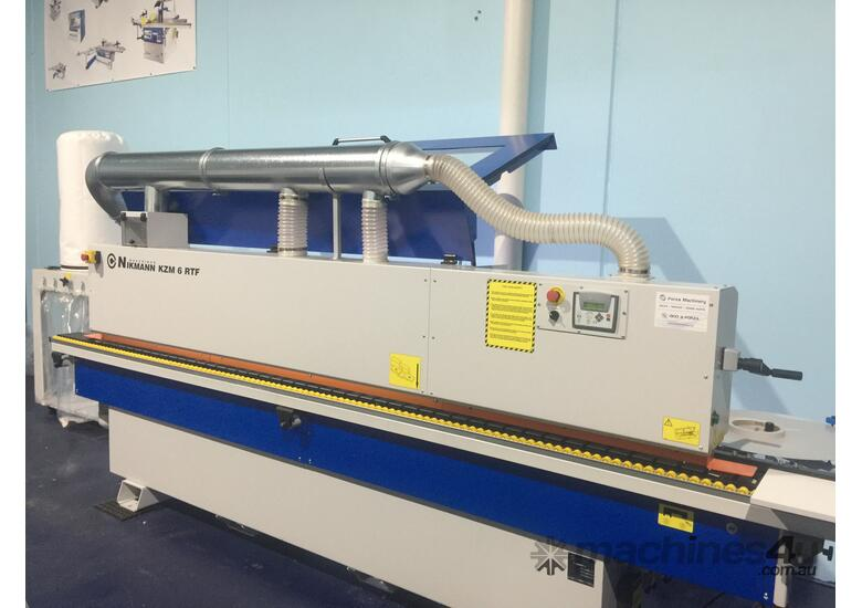 Edgebanders with corner rounder + pre milling + return conveyor